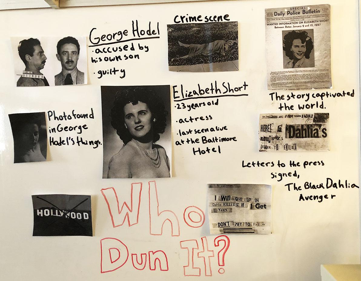 Crime map of the Black Dahlia case.