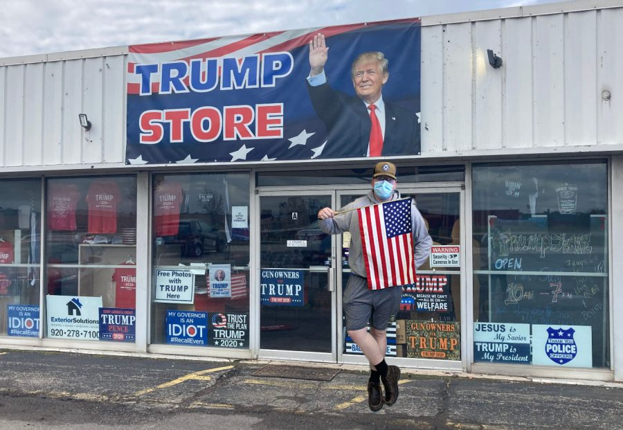 Junior Logan Klemm is thrilled about the new Trump store!